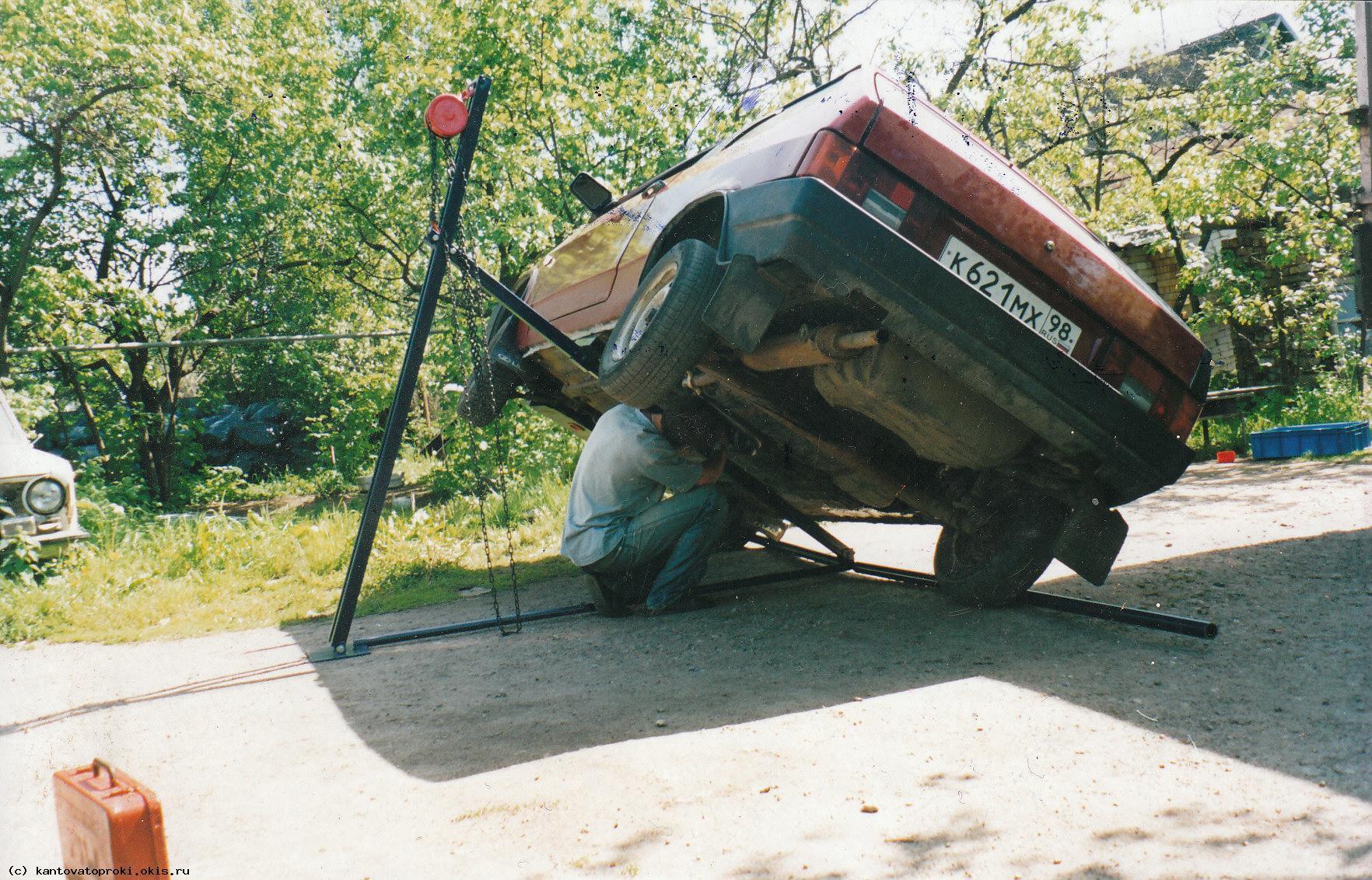 Приспособление для переворачивания авто на бок
